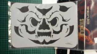 Stencil/Template/Shape Guide  'Face ..PUMPKIN'  A4 size   was £12 NOW £6.00 inc postage